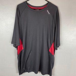 Reebok short sleeve athletic shirt red gray XXL
